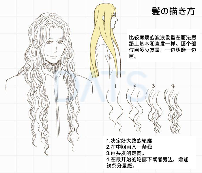 动漫人物头发的画法!不同人物配不同的发型! 看漫画